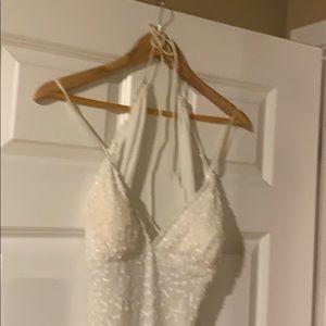 Breathtaking white beaded dress!